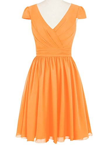 Orange Plus s Women Size Preferhouse Mother The Length Of Sleeve Dress Bride Knee Cap Zq6wOg1xw