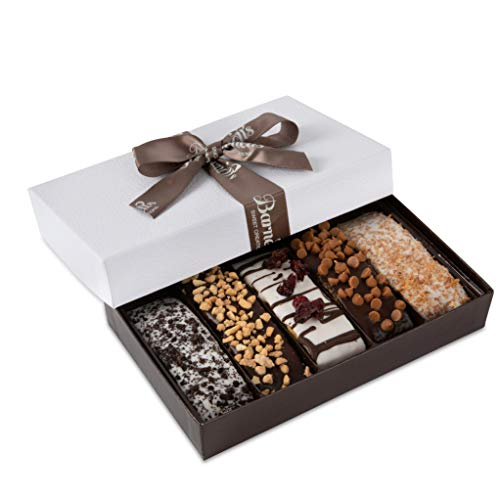 Barnett's Gourmet Chocolate Biscotti Favors Gift Box Sample, Christmas Holiday Cookie Gifts, Unique Corporate Gift Basket Valentines Mothers Fathers Day Baskets Thanksgiving Birthday Get Well Idea ()