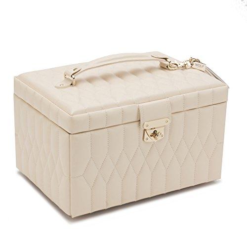 WOLF 329753 Caroline Medium Jewelry Case, Ivory ()