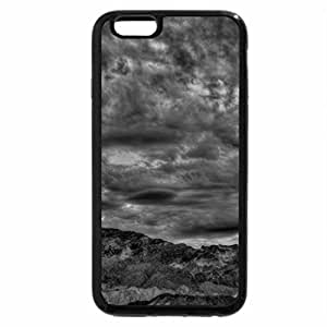 iPhone 6S Case, iPhone 6 Case (Black & White) - marvelous clouds over desrt hills in death valley hdr