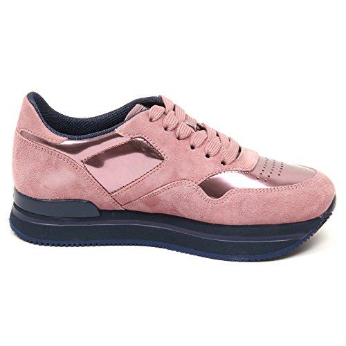Shoe Rosa E0306 Suede Hogan Rosa H222 Donna Sneaker Woman 4RqwYH