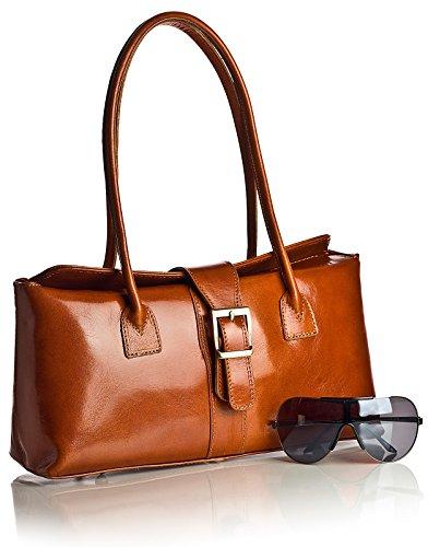 Avellana MEGAN Liquidación hombro cierre Z LiaTalia con piel bolso Elegante en decorativo de auténtica italiana 6qwWSROU