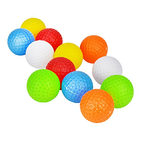 "Popular Toy Kid's Golf Balls Accessories Kits Sets for Toddler 1 1/2"" Inch 10 Pack 5 Colors Randomly"