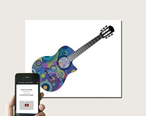 Guitar QR Code Art With Any Song Any Guitar Artist, Personalized Geek Christmas Gift, First Dance Anniversary Gift for Him, Interactive Art, 2nd Wedding Cotton Anniversary For Husband, UNFRAMED Print