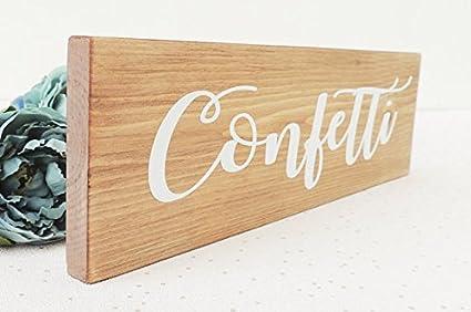 Amazon.com: Onepicebest Confeti signo, decoración de boda ...