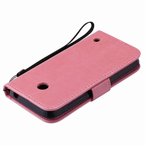 Yiizy Nokia Lumia 635 RM-974 RM-975 Funda, árbol De Dibujo Diseño Solapa Flip Billetera Carcasa Tapa Estuches Premium PU Cuero Cover Cáscara Bumper Protector Slim Piel Shell Case Stand Ranura para Tar