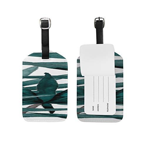 Id Labels Business Suitcase Luggage Tag Tropical Bamboo Branches Fresh Jungle ()