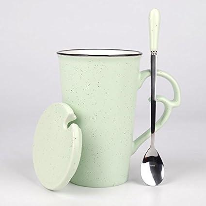 BXSBH Dulce de leche taza de cerámica, taza de café, un par de copas