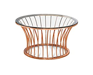 247SHOPATHOME Clancy Rose Gold Finish End Table