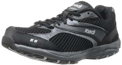 RYKA Women's Dash Walking Shoe,Black/Iron Grey/Chrome Silver,5 M US