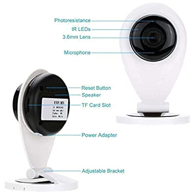 Oguine Mini HD WiFi Camera Wireless Intelligent Network Surveillance Camera Security