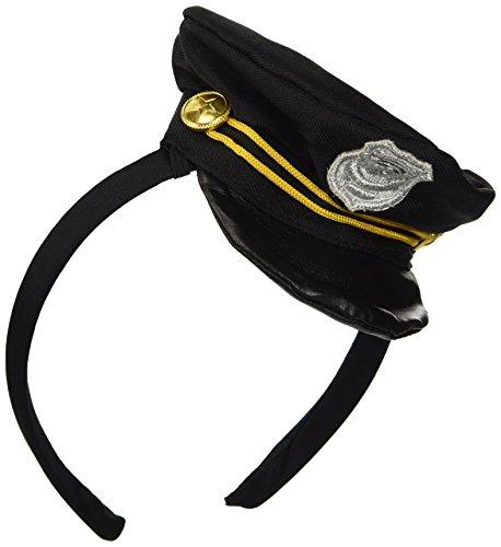 [Mini Cop Hat on Headband] (Cop Hat Costume)