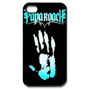 Gators Florida USA Music Band Series-3 Papa Roach Print Black Case With Hard Shell Cover for Apple iPhone 4/4S