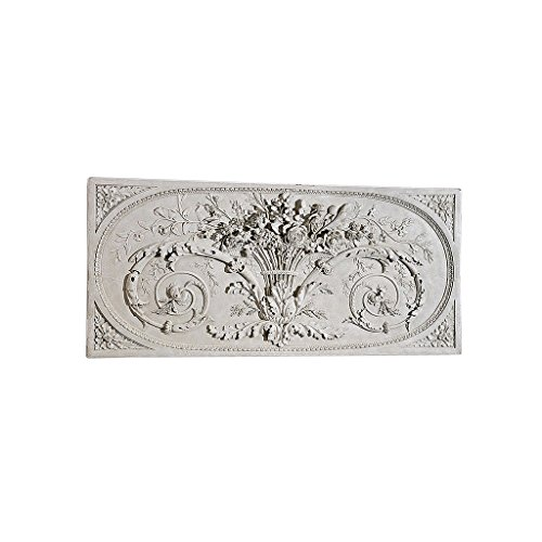 Design Toscano Le Bouquet Grand Sculptural Wall Frieze in Antique Stone