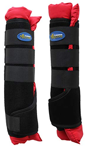 Horse Stable Shipping Boots Wraps Front Rear 4 Pack Leg Hoof Care Premium 4120RD by TackRus (Image #1)