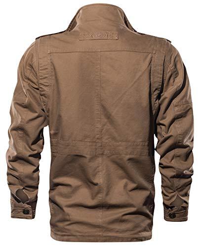 Blousons Kaki Militaire Classique Outdoor Masculine Veste Homme Bomber Printemps Manteaux Cotton poche Automne Hiver Yyzyy Multi qH1wFOxO