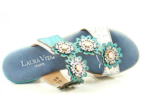 Laura Vita SL3063-4A Bettino 04 Zuecos fashion de cuero mujer Blau