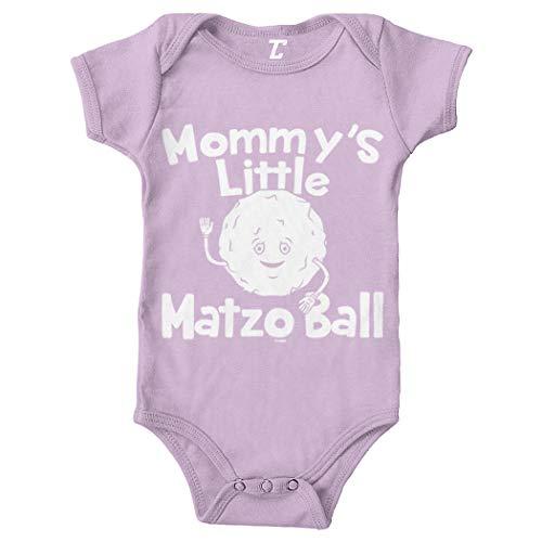 Mommy's Little Matzo Ball - Jewish Bodysuit (Light Purple, 18 Months)