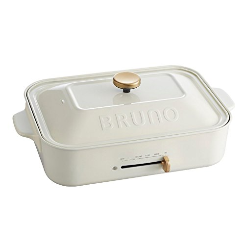 BRUNO compact hot plate BOE021-WH (White)(Japan Import-No Warranty)AC100 by Bruno