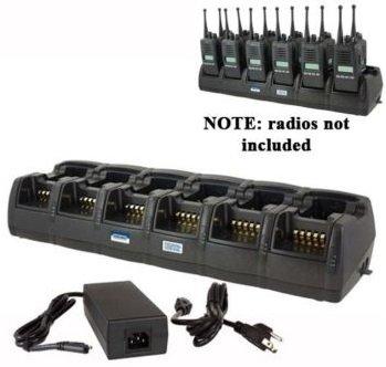 Power Products TWC12M + 6 TWP-VX7-D 12 Unit Gang Charger for Vertex VX231 EVX531 EVX534 EVX539 VX351 VX354 VX451 VX454 and more