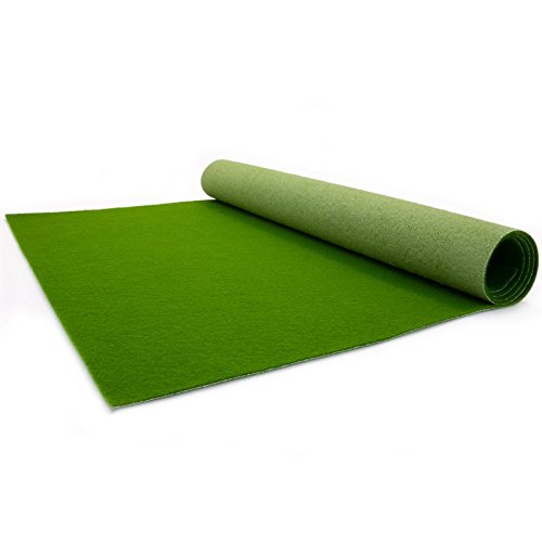 Primaflor - Ideen in Textil Dark Green Carpet - Wedding Runner - Ceremony Aisle - VIP Carpet - Event Rug - Dark Green Colour - 1m x 1m, 2.6mm height