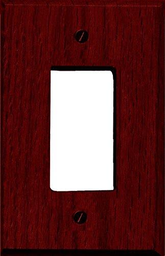 Runwireless Traditional Dark Cherry Wood Wall Plate/Switch Plate - 4-407 (Single Rocker) - Wood Wall Cherry