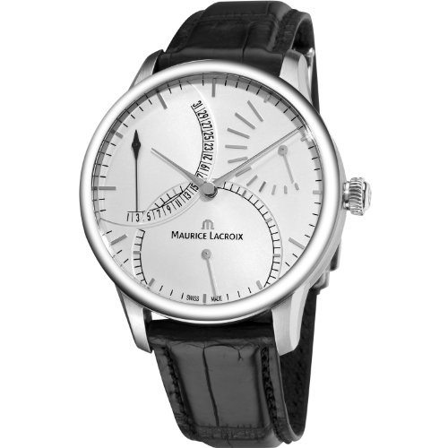 - Maurice Lacroix Men's MP6508-SS001130 Masterpiece Black Leather Strap Watch