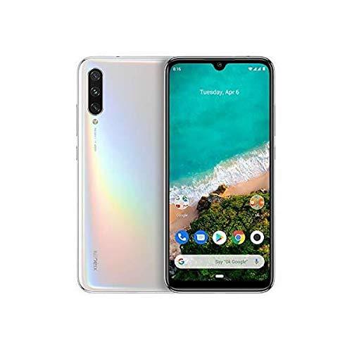 Xiaomi Mi A3 Smartphone 4GB RAM 128GB ROM Mobilephone Pantalla AMOLED de 6 088 Procesador Qualcomm Snapdragon 665 AIE Triple cámara con IA 48 MP 8MP 32MP versión Global Blanco Puro