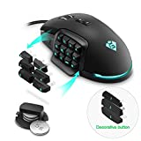 ??Gamkoo RGB Wired Gaming Mouse,?24000 DPI??Programmable 17 Buttons?? Breathing Light??Interchangeable Side Button??Macros Function??Ergonomic Mouse?MMO Gaming Mice for Windows PC Games