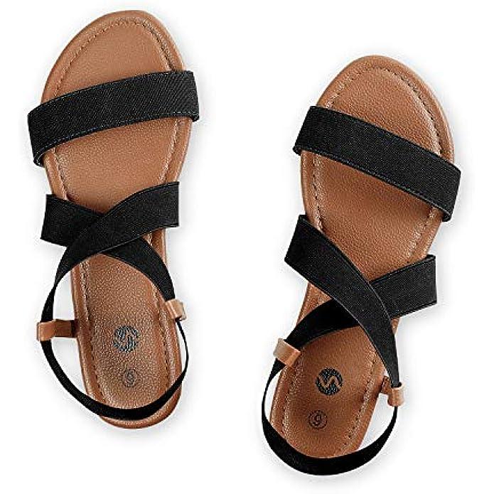 Rekayla Flat Elastic Sandals for Women