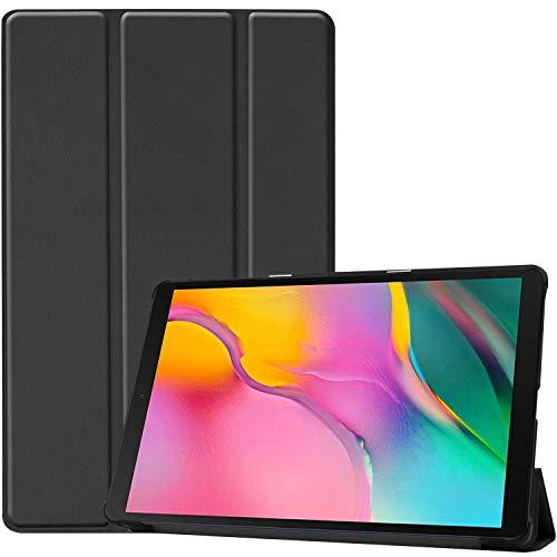 ProCase Étui pour Galaxy Tab A 10.1″ 2019 T510 T515 Case, Smart Cover Case Housse Coque de Protection Rigide Mince avec Support Fonction pour 10,1 Pouces Galaxy Tab A Tablet SM-T510 SM-T515 –Noir