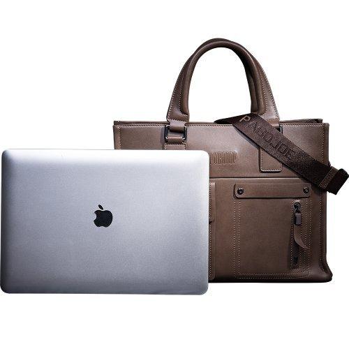 Mens Business Tote Handbag Doctor Leather Document Clutch Bag Strap by MXPBJ (Image #9)