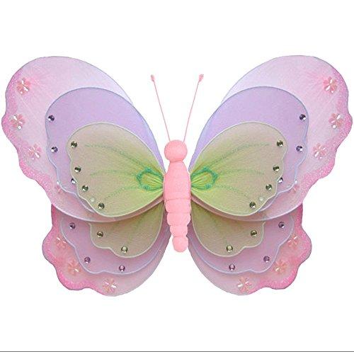 2 mini borboletas de nylon