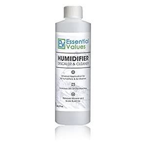 Humidifier / Airwasher Cleaner & Descaler for Venta, Boneco, Air O Swiss / EZCal and other humidifiers by Essential Values, 8oz