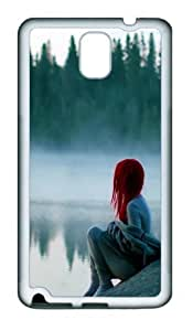 Alone in the Mist TPU Custom Samsung Galaxy Note 3/Note III/N9000 Case and Cover - White