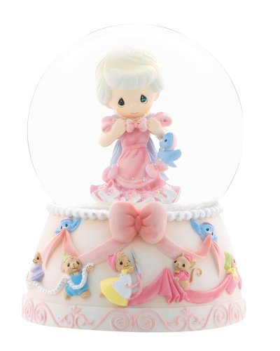 Precious Moments Disney Collection Anything is Possible with Friends Musical Water Globe