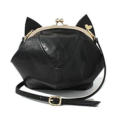 RubySports Cute Cat Ear Pu Leather Pouch Clutch Purse Mini Cross Body Shoulder Tote Bags Wallet for women