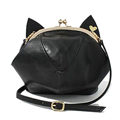 RubySports Cute Cat Ear Pu Leather Pouch Clutch Purse Mini Cross Body Shoulder Tote Bags Wallet for women 41 2BblsOR8pL