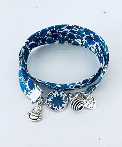 usine authentique 29083 cc0e0 Bracelet Liberty, Bracelet à parfumer en tissu Liberty ...