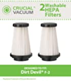2 Dirt Devil F2 Replacement HEPA Filter, Compare to Dirt Devil Part #3SFA11500X, 3-F5A115-00X, Designed & Engineered by Crucial Vacuum