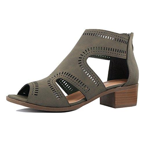 Guilty Heart - Women Comfortable Cut Out Low Block Heel Summer Walking...