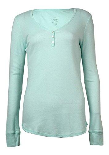 (Charter Club Women Long Sleeve Top Sunlight Aqua Medium)