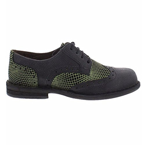 Fly London Mens IDal 903 Sole/Opti Leather Shoes Black Green