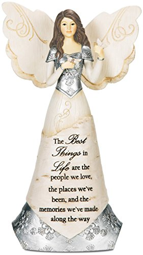 Price comparison product image Pavilion Gift Company Elements 82328 Angel Figurine Holding Butterflies,  Best Things In Life,  8-Inch