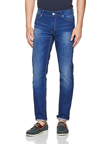 Estrechos para 9382 Advanced HIS Cliff Blau Medium Slim Hombre Blue Wash w6tB7qABEn