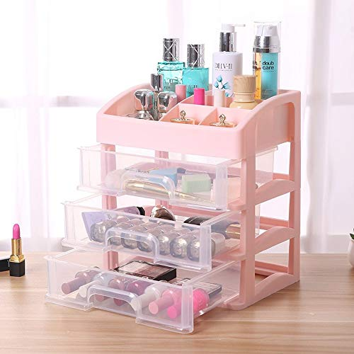 (Storage Boxes & Bins - Triple Layer Drawer Type Jewelry Makeup Cosmetics Storage Box Case Container Organizer - Storage Bins Boxes Storage Boxes Bins Drawer Partition Desktop Desk Wooden Office)