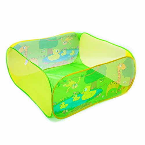 Price comparison product image Ball Pit PLAY10 Pop-up Foldable Kids Ball Pool ,43*43*20inch,Green Ball Pit for Toddlers with Convenient Storage Carry Bag ,Pit Balls not Included