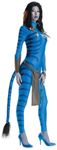 Women'S Costume: Avatar Neytiri- Small - Product Description - Blue Jumpsuit With Na'Vi Stripe Detailing, Apron And Gauntlet. Adult Women'S Small Fits Size 4-6. ...]()