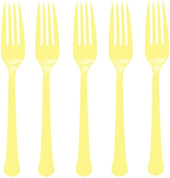 Pack of 20 Premium Heavy Weight Plastic Forks Jet Black Party Supply