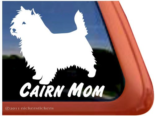 Cairn Mom ~ Cairn Terrier Dog Vinyl Window Decal